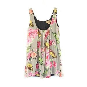 Karen Zambos Vintage Couture Butterfly Floral Dres